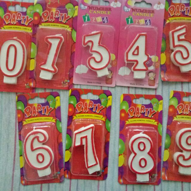 Tremendous Number Candles For Birthdays Cakes Shopee Philippines Funny Birthday Cards Online Inifodamsfinfo