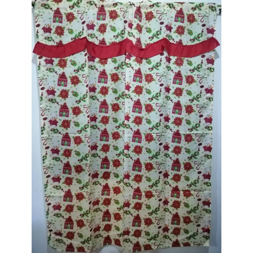 Christmas Curtain For Window Or Door Home Decoration