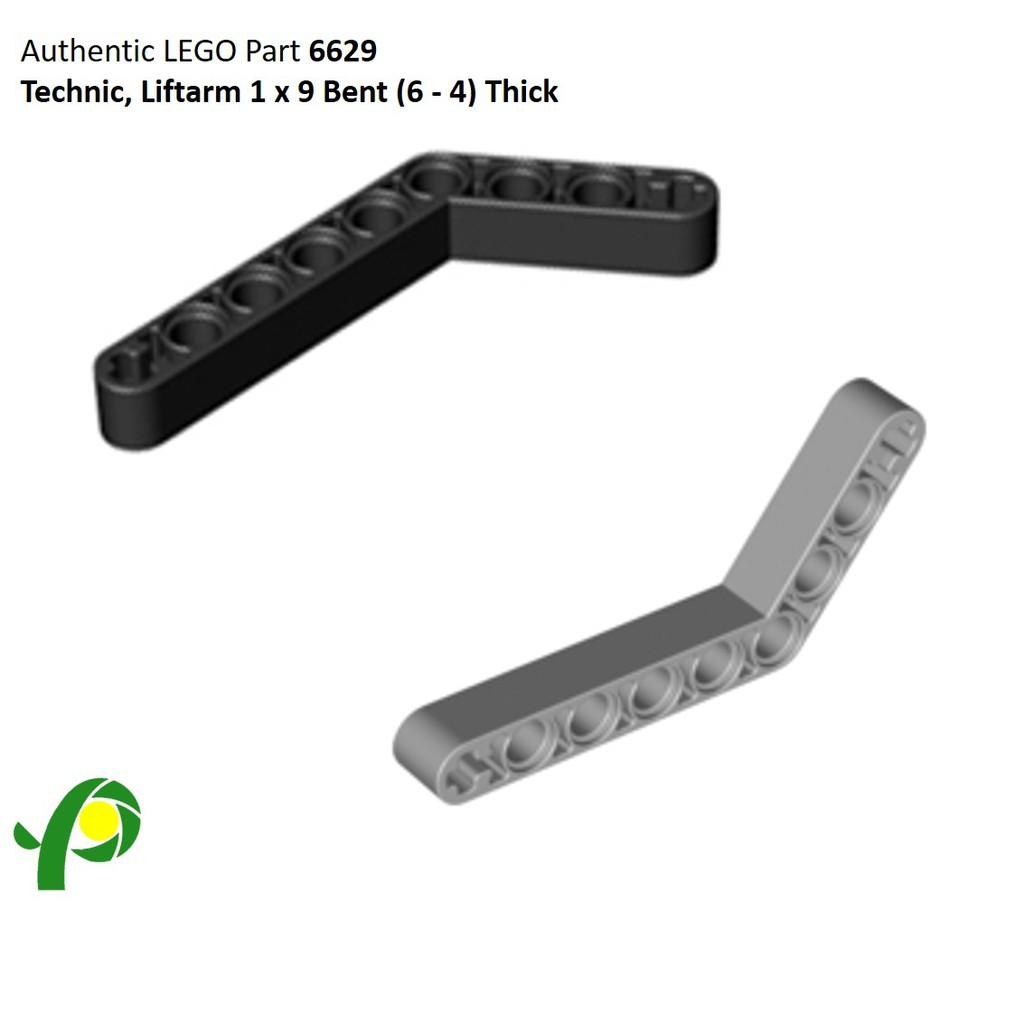 Lego Technic Liftarm 1x9 Bent Thick Light Bluish Gray Lot of 8 New