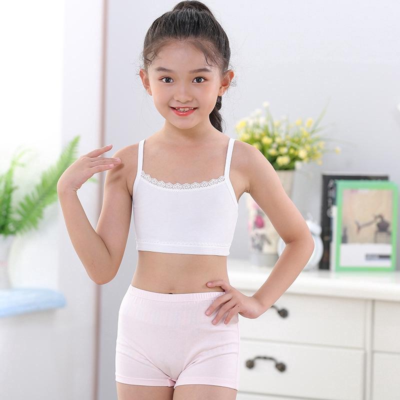 Girls Teens Cotton Lace Puberty Girls Bra Sports Underwear for Teenager  White Print Girl Training Bra Children Kids Underwear Clothing   Shopee  Philippines