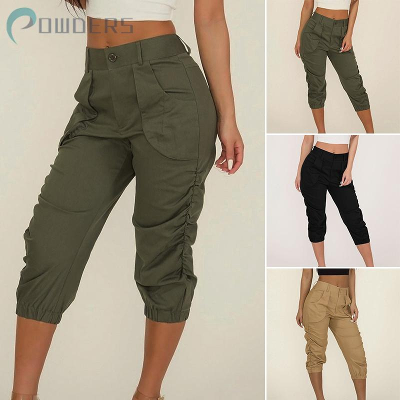 Womens Ladies Summer Trousers Straight Leg Tapered Stretch Casual Trouser Pants.