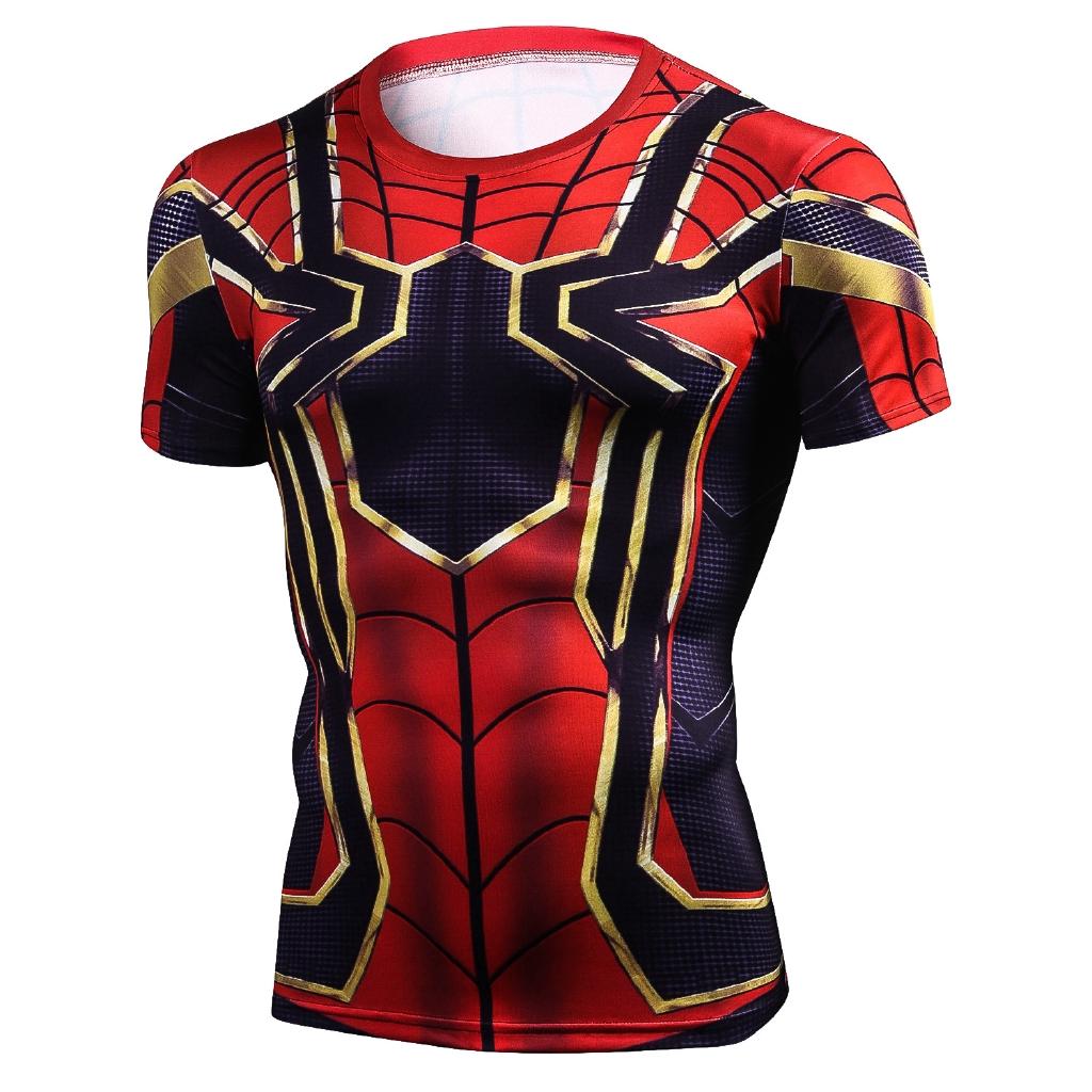 b8c7437f0 The Avengers 3 Spiderman T Shirt Men Compreeeion Tops | Shopee Philippines