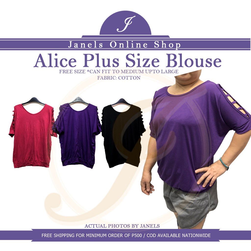 aea303dce44f Alice Plus Size Blouse   Cold Shoulder Top