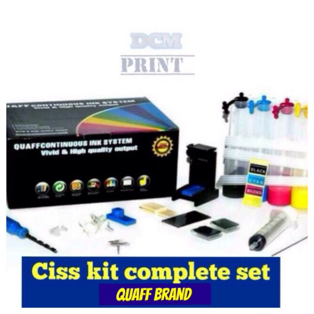 CISS Kit Complete set for canon and hp quaff brand