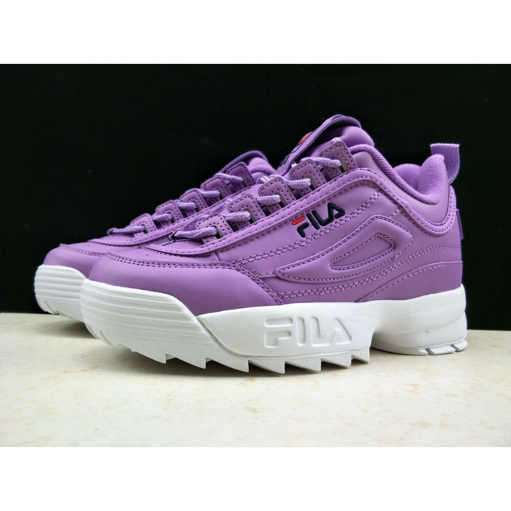 7bb39e7c3eb50 SLK Original ☆ Original  nreal picture FILA DISRUPTOR 2 purple color for women  running shoe36-42
