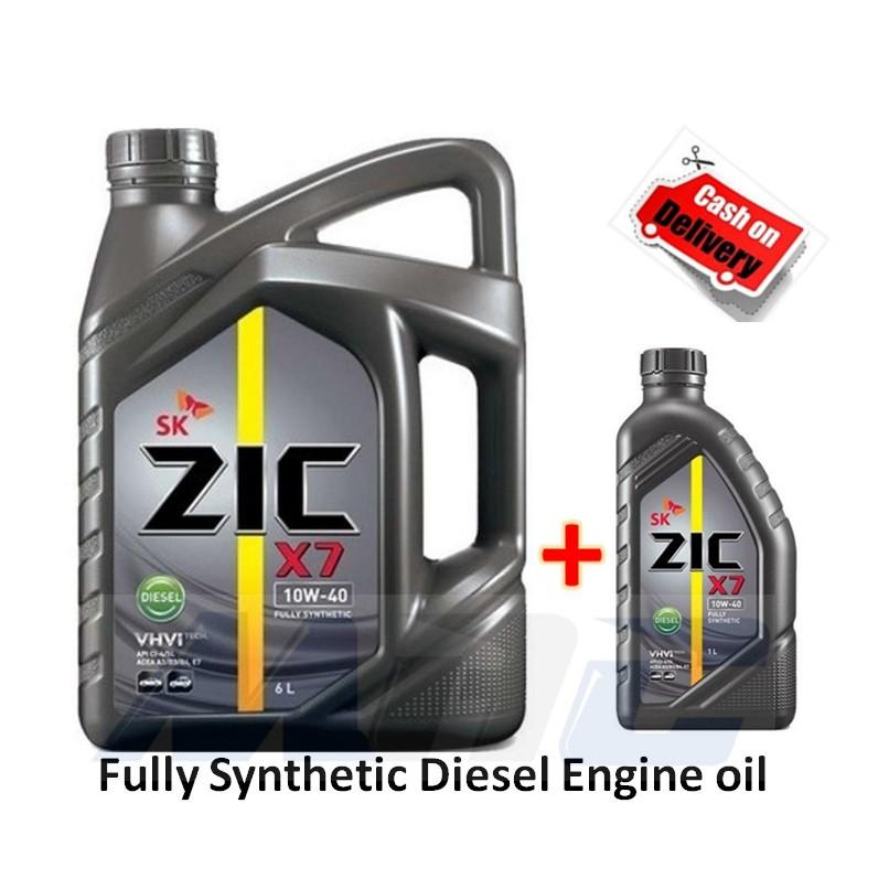 ZIC X7 10w40 Fully Synthetic 7 Liters DIESEL Engine oil