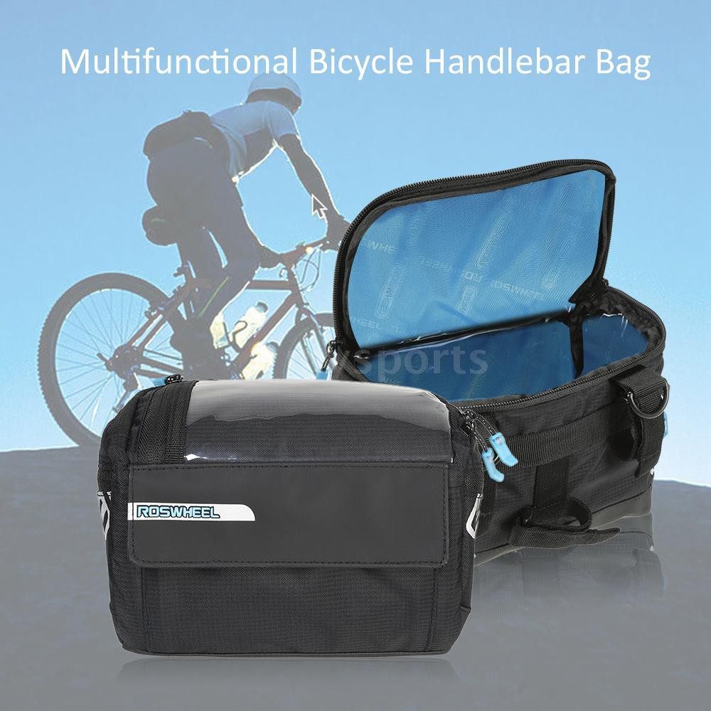 Multifunction Cycling Bags Bike Bicycle Waist Pack Shoulder Handlebar Bag Black