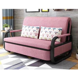 High Quality Pink Sofa Bed 1m 1 2m 1 5m Folding Bed With Pillows Shopee Philippines