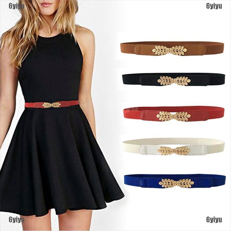 Women Thin Skinny Dress Waist Belt High Stretchy Elastic Waistband Belt