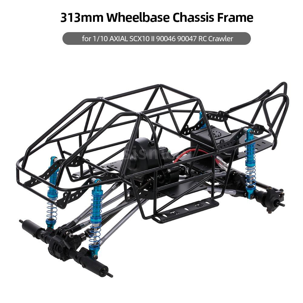 Sis 313mm Wheelbase Chassis Frame for 1/10 AXIAL SCX10 II 90046 90047 RC  Crawler Climbing Car DIY