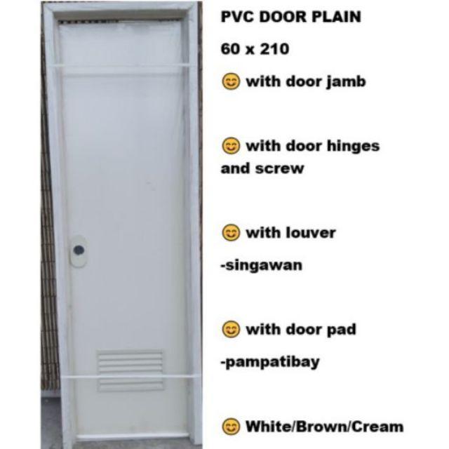 Pvc Door Bathroom 60x210 With