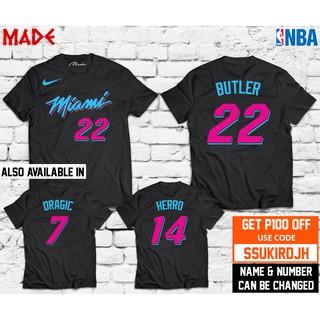 huge discount 05c64 8eca2 NBA MIAMI HEAT LOGO VICE CITY DWYANE WADE SHIRT   Shopee ...