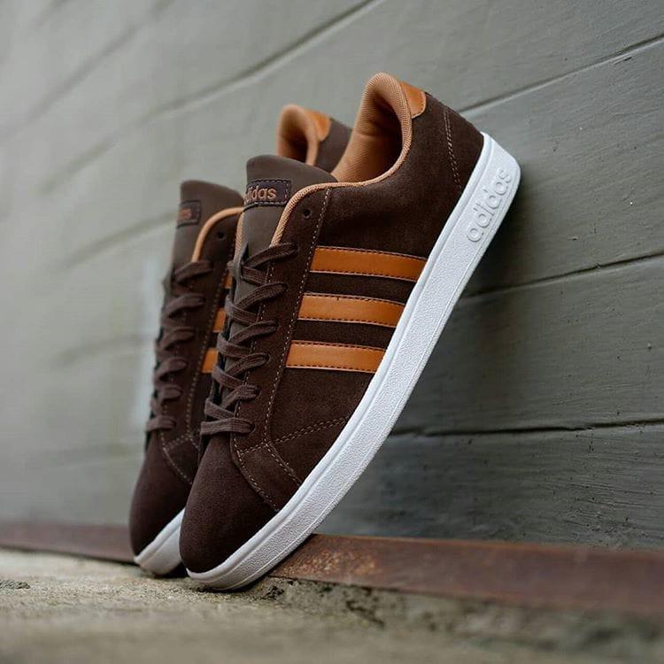 Adidas Neo Baseline Suede Brown Tan Original