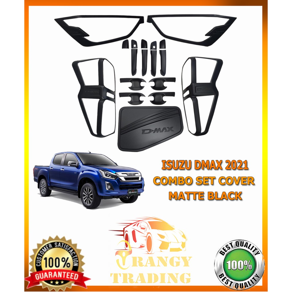 Isuzu DMAX 2021 Garnish set cover matte black (Combo set ...