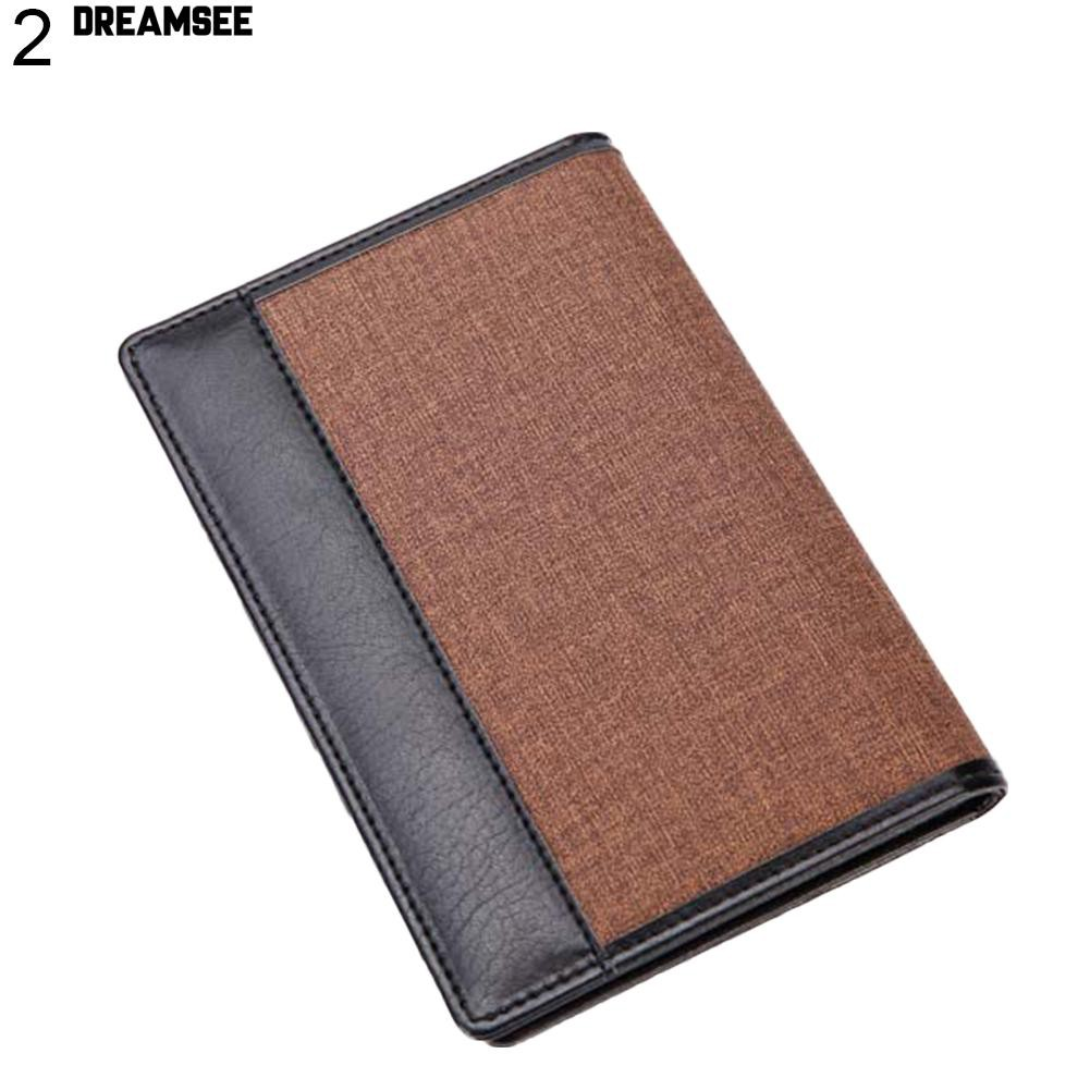 60eeceba7a1b 💎♥ Men Retro Faux Leather Passport Holder Cover Travel Wallet