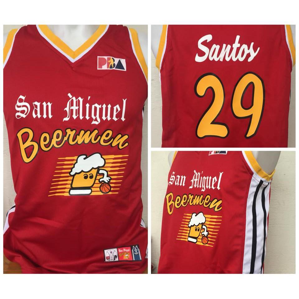 b64bc0645c9 ARWIND SANTOS #29 San Miguel BEERMEN Retro PBA Jersey! | Shopee Philippines