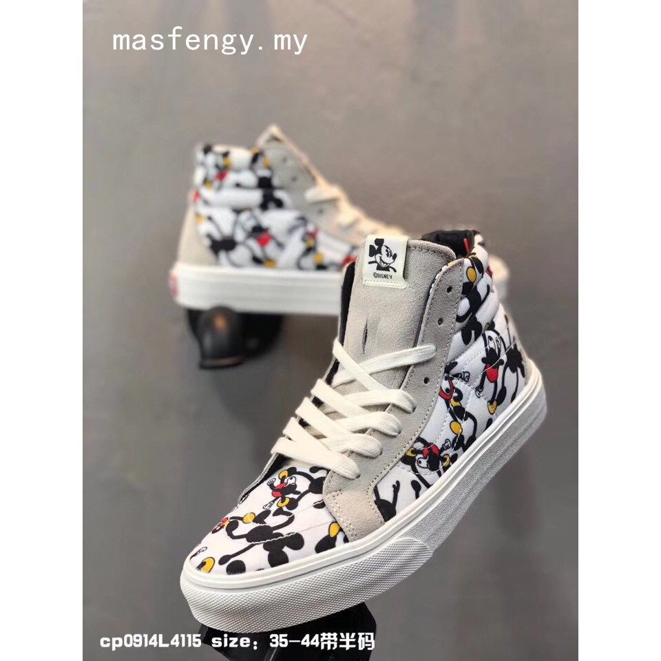 Ready Stock New VANS x Disney Mickey Mouse Old Skool Skate Sneakers Shoes(VN0A38G1UJE)