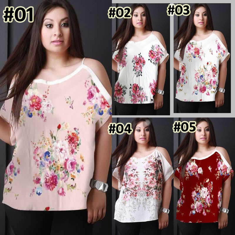 8b286906020 💋JT Plus Size Shoulder Cutout Top | Shopee Philippines