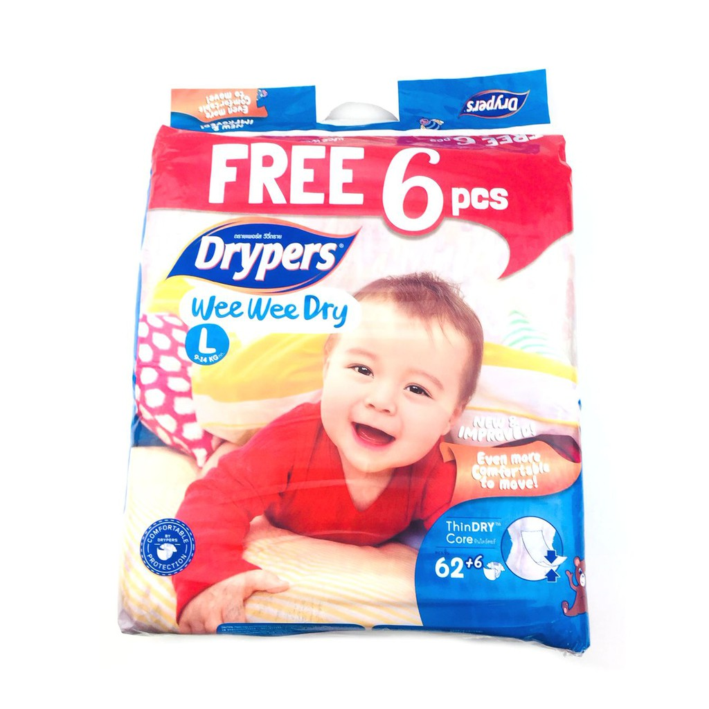 Drypers Wee Dry Diapers Regular Pack Xl 16s Of 8 Shopee Mamypoko Pants Extra Xl26 Philippines
