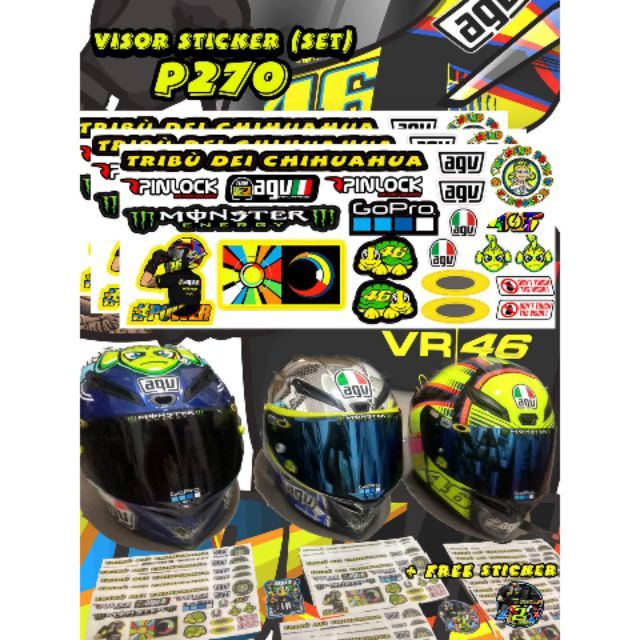c5a65b84 KYT VISOR STICKER   Shopee Philippines