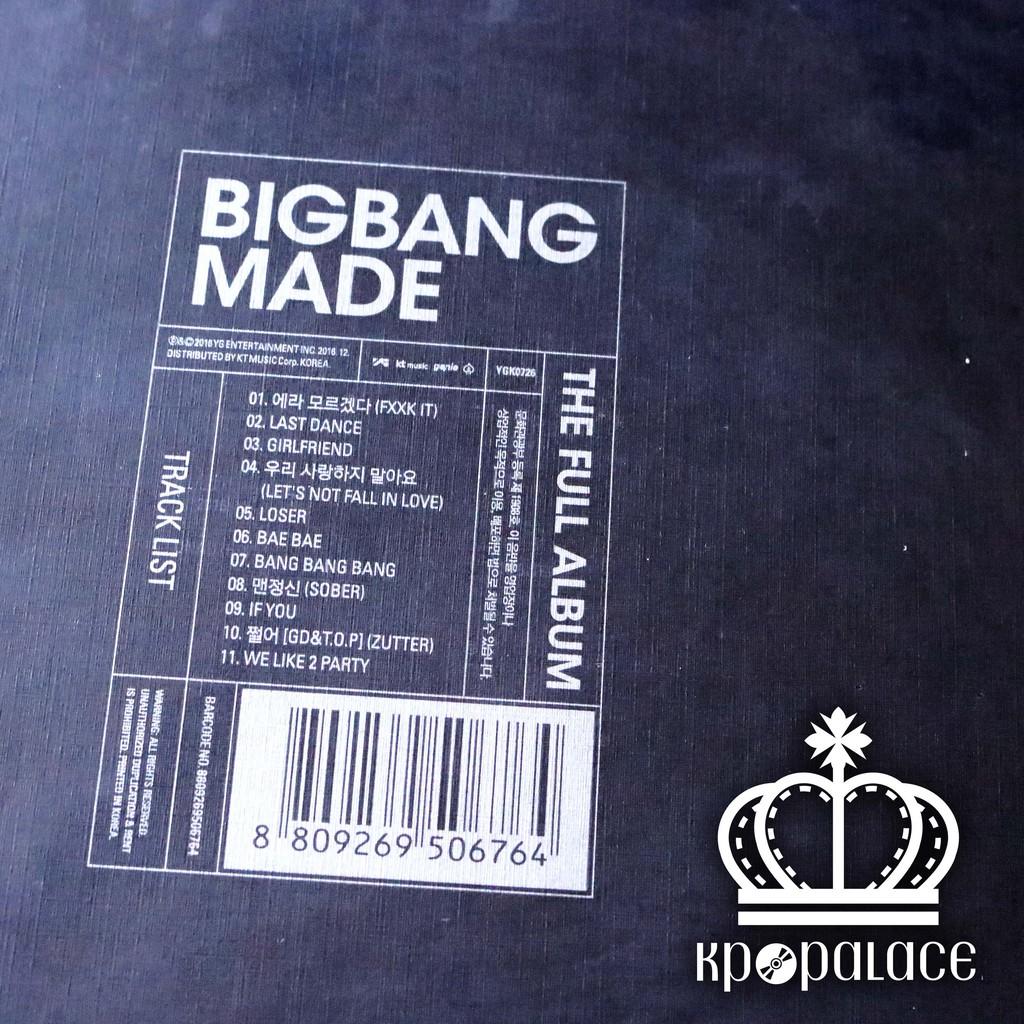 BIGBANG MADE Full KPOP Abum