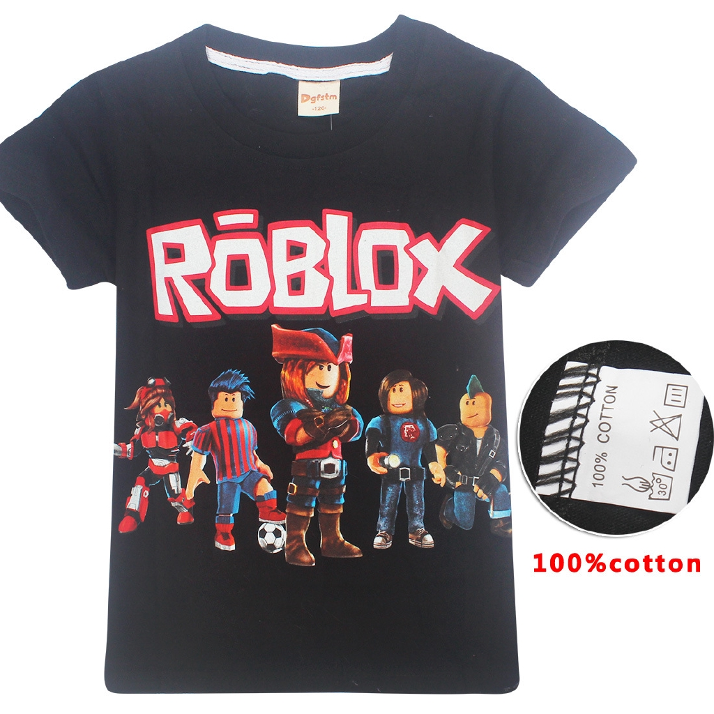 T Shirt Roblox 6 Mui Chaodama Children T Shirt Roblox Summer Cotton Short Sleeve Shopee Philippines
