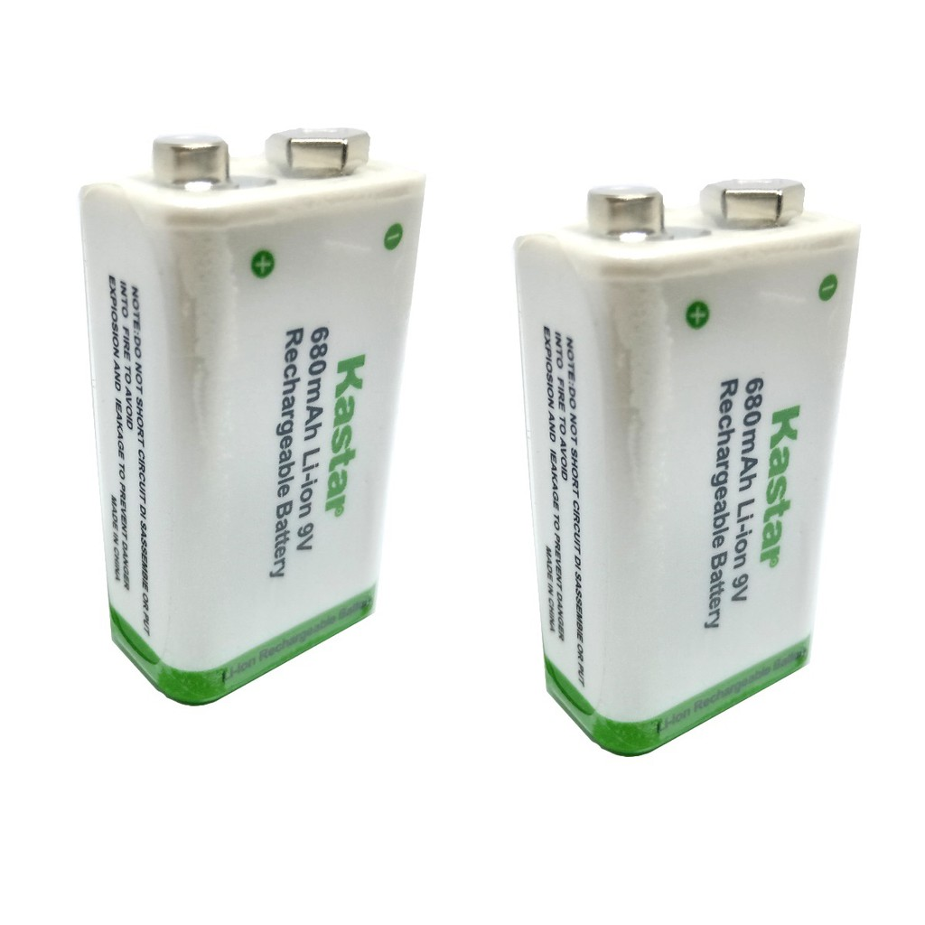 9 VOLT Li-ion Battery Charger 4x 600mAh 9V Lithium Ion Rechargeable Batteries