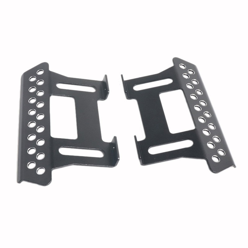 A Pair Side Alloy Pedal Plates Side Step for 1:10 Axial SCX10 RC Crawler Car Titanium Upgrade Accessories Metal Sliders Easy Installation Red Black