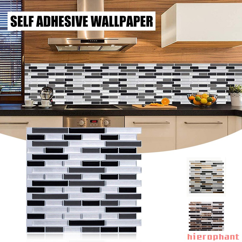 Creative Home Beautification 3d Tile Stickers Self Adhesive Kitchen Backsplash Wall Paper Simulation Marble Design Shopee Philippines