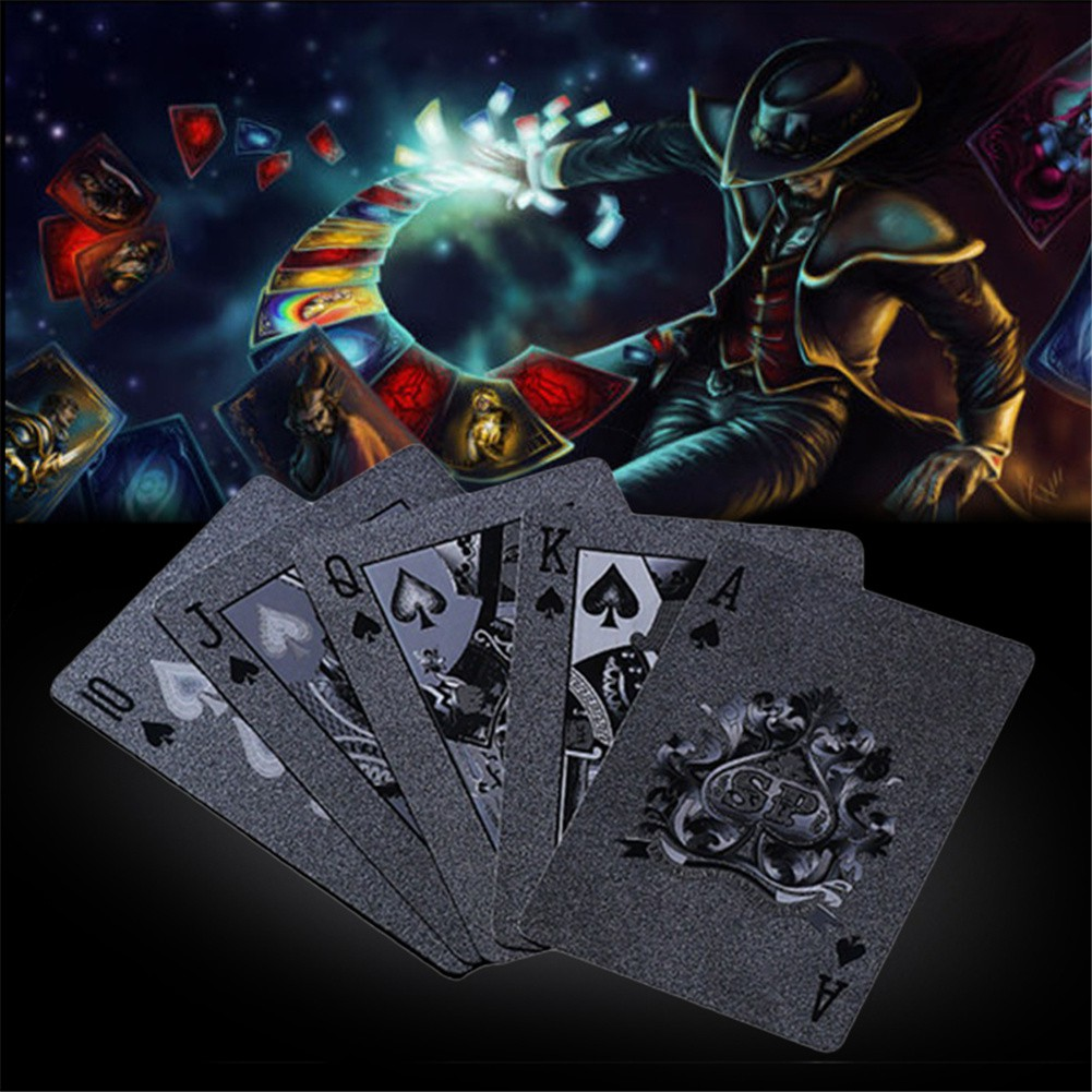 Ready Stock Black Matte Plastic Poker Cards Pet Waterproof Playing Cards For Table Games Shopee Philippines