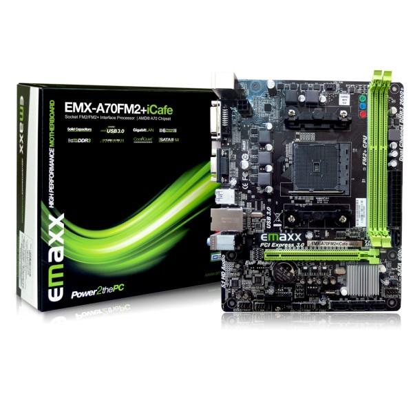 Emaxx EMX-A7FM2+icafe Motherbord AMD A6-7480 A8-7680 A10-770