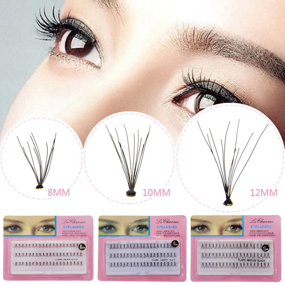 Df False Eyelashes Fake Flare Lashes Extensions Knotted Shopee