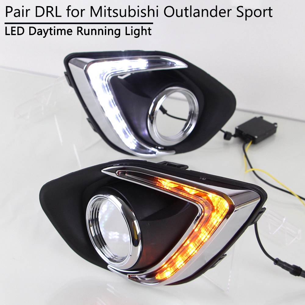 LED DRL Lamp W Turn For Mitsubishi ASX Outlander Sport 13-15