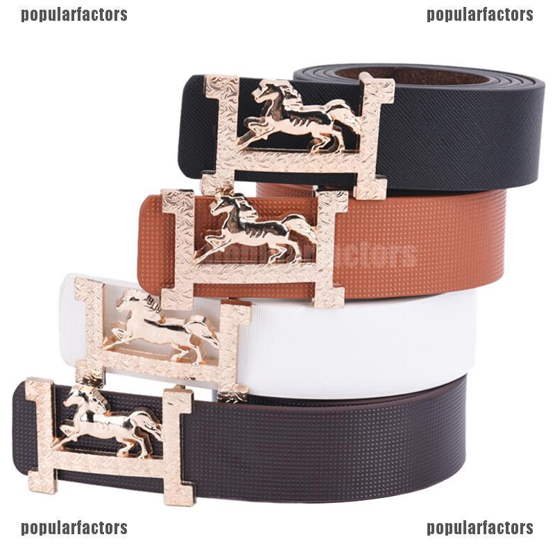 NEW Male Matte Automatic buckle belt Men Ratchet Slide Leather Frosted waistband