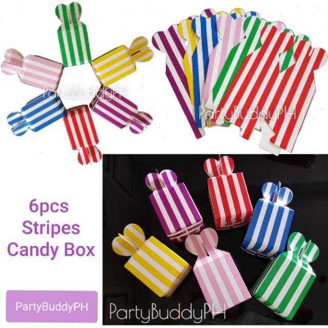 COD 6pcs Stripes Candy Box (Giveaways)