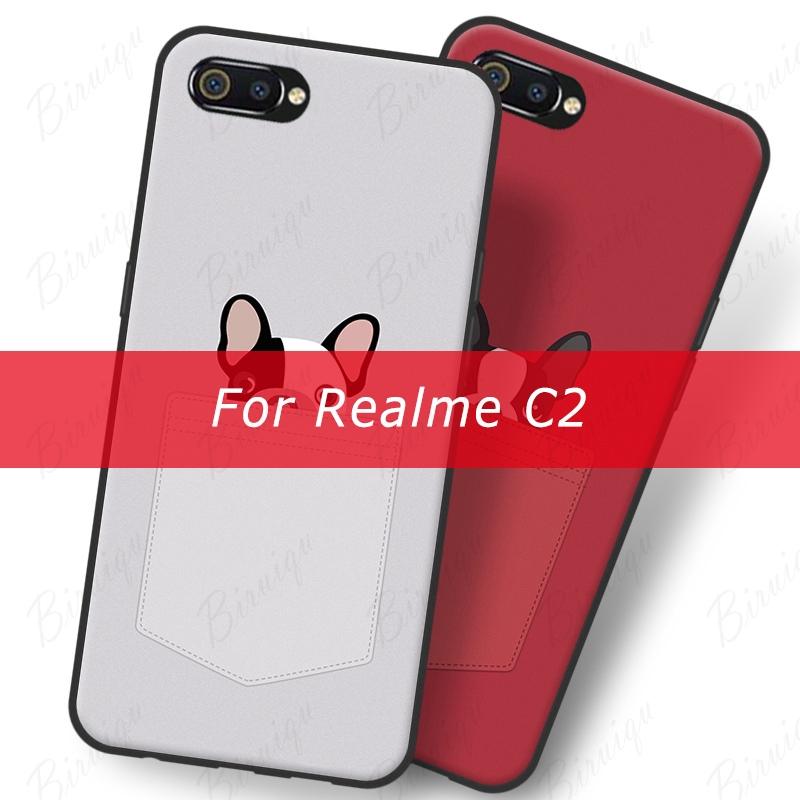 OPPO Realme C2 Soft Case Pocket Dog Cute Puppy Pattern Soft TPU Phone Case