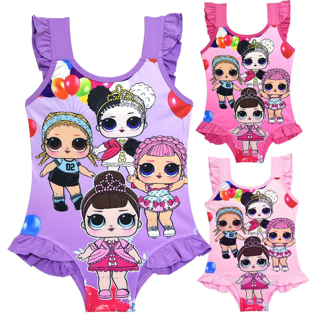 2304b4cff9 lol surprise dolls Kids Baby Girls Swimming Suits Bikini Floral Swimwear  Beachwear Swimsuit