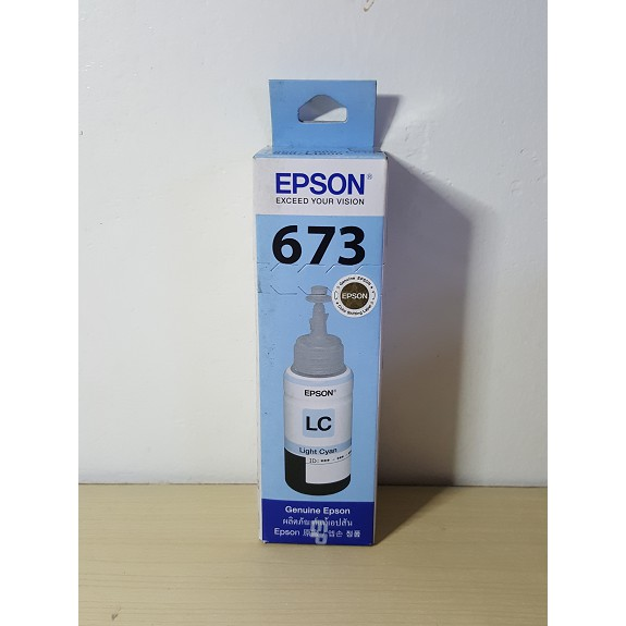 Genuine Epson 673 Ink (Light Cyan)