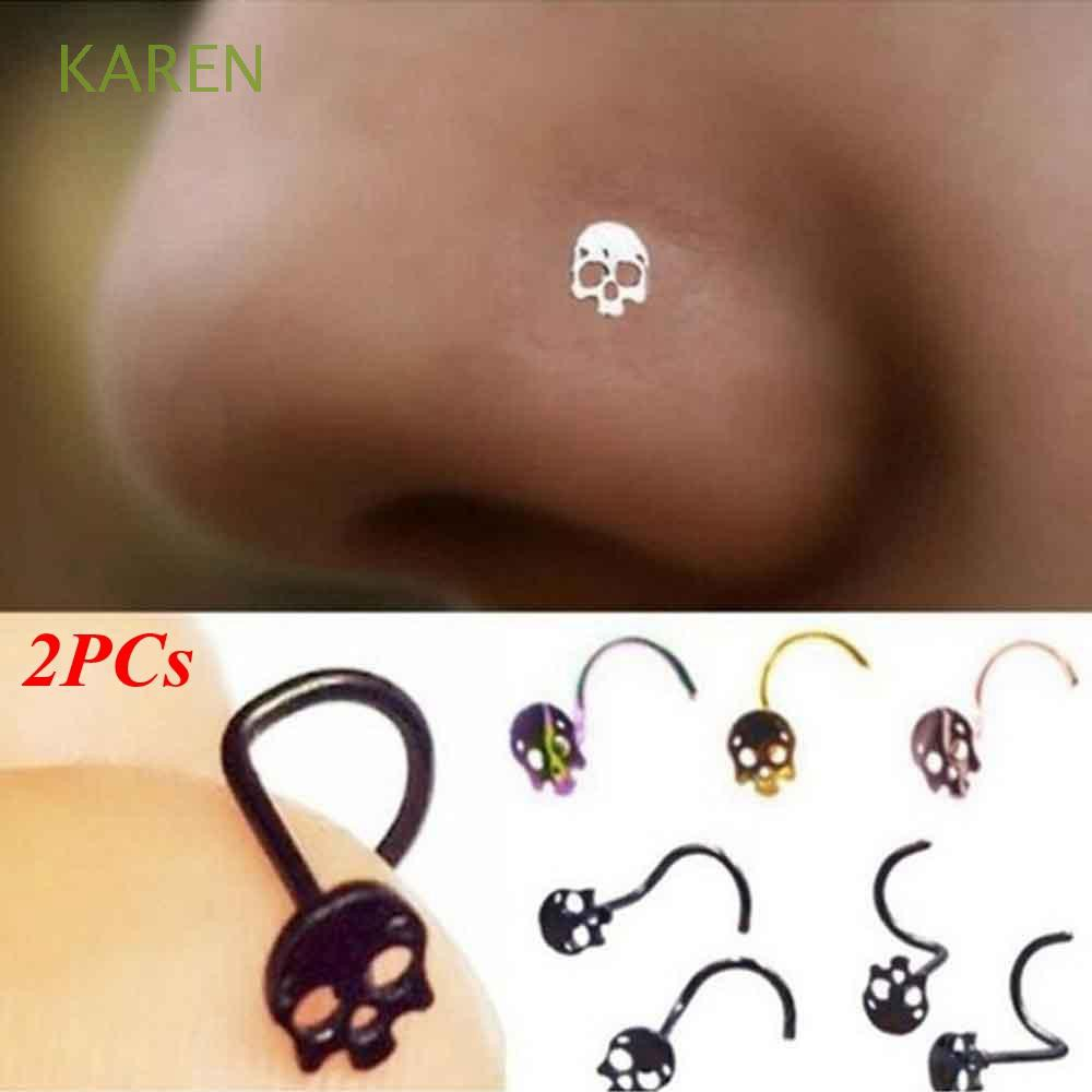 Thin Surgical Steel Body Piercing Jewelry Nose Ring Shopee
