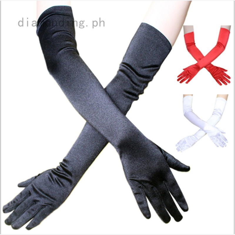 Long Black Gloves Wrist Elbow Opera Evening Party Fancy Dress Costume Flapper