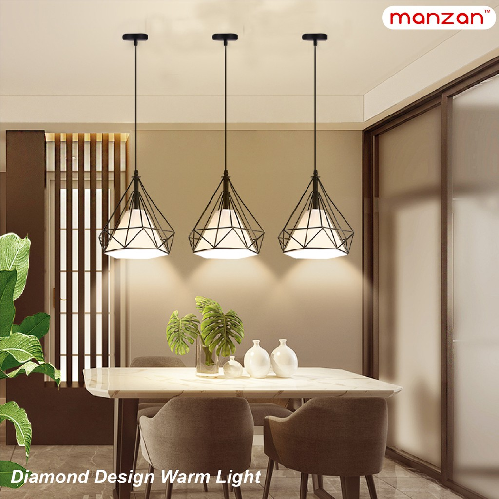 Picture of: Manzan Led Dining Room Lamp Modern Simple Creative Led Bar Dining Room Table Lamp Chandelier Light Shopee Philippines