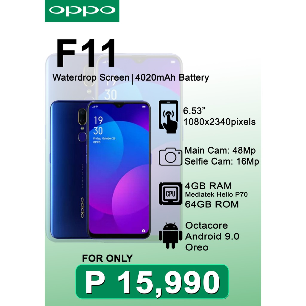Oppo F11 4Gb RAM 64Gb ROM
