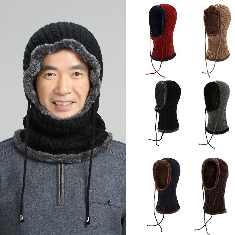 Winter men s outdoor knit padded plus velvet cap  190cdc44d308