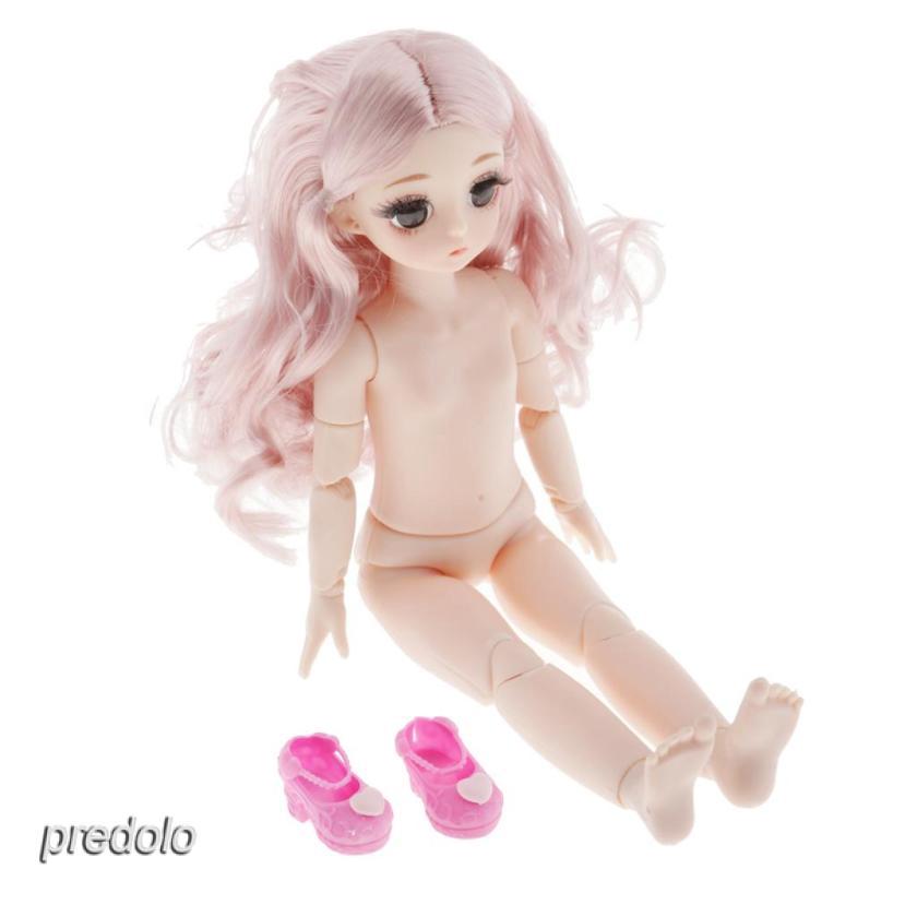 21 Mobile Dolls 28cm BJD Naked Body Fashion Hair for Girls Gift Normal Skin