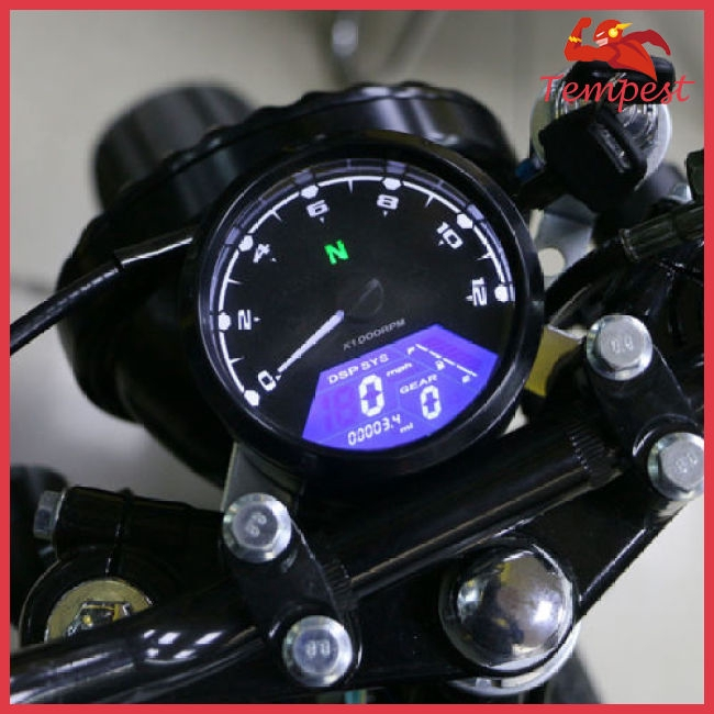 Motorcycle Universal LCD Signal Speedometer Tachometer Odometer Gauge for  Scooter