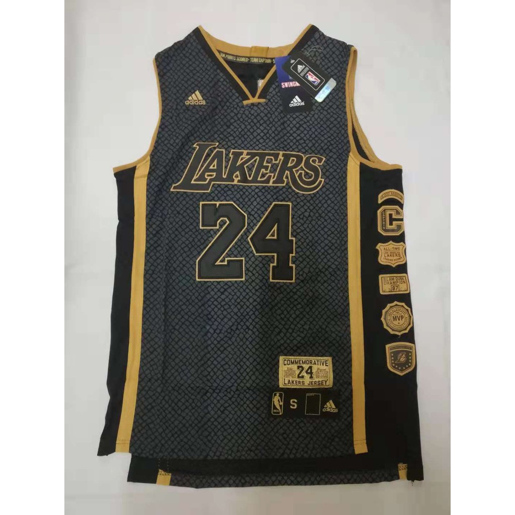 60bc559f6 NBA Lakers 24 Kobe Bryant Retirement Memorial Jersey
