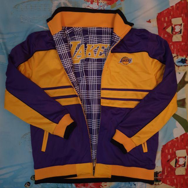 Vintage Reversible Lakers Jacket Shopee Philippines