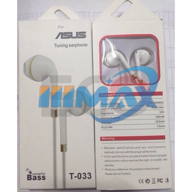 POWER BASS HEADSET FOR ASUS TUNING EARPHONE-:)