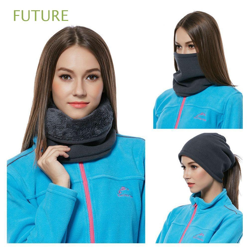 Fashion Snood Balaclava Neck Warmer 3 IN 1 Hat Thick Scarf Fleece  Scarves