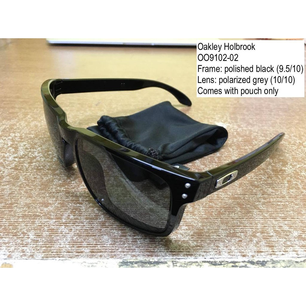 302f5c807ae Authentic Oakley Holbrook pol. black w  grey POLARIZED lens